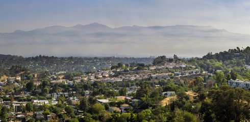 Los Angeles country side view from top