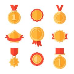 Golden medals.