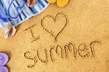 Summer beach love message