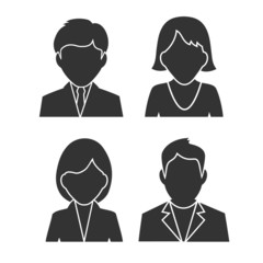 silhouettes of people icons