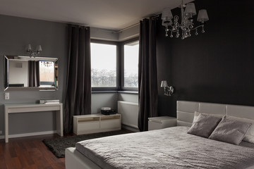 Dark expensive bedroom