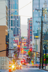 Nashville Tenessee streets in the evening