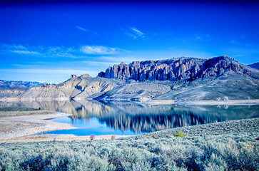 Wall Mural - blue mesa reservoir in gunnison national forest colorado