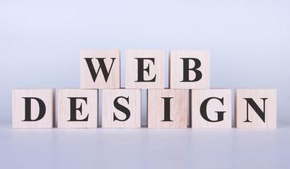 Web Design Word cubes photo