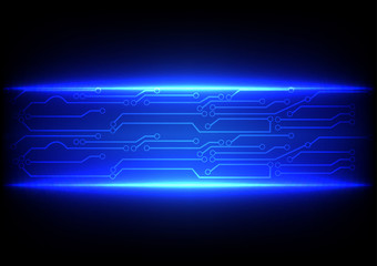 abstract blue  with circuit line background