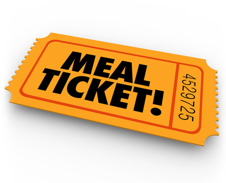 Meal Ticket Free Paying Service Support Winning Restauraunt Eati