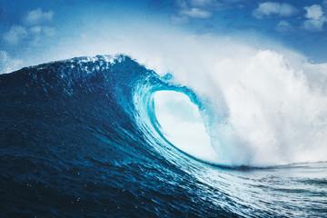 Wall Mural - Blue Ocean Wave, Epic Surf