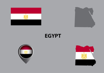 Map of Egypt and symbol