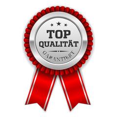 Silberner Top Qualität Siegel Mit Roter Scherpe