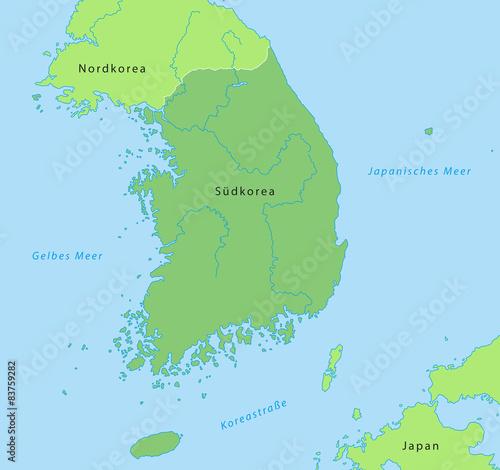 Südkorea Karte.Südkorea Karte In Grün Mit Beschriftung Stockfotos Und