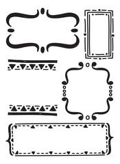 set of graphic element