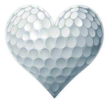 Golf Ball Heart