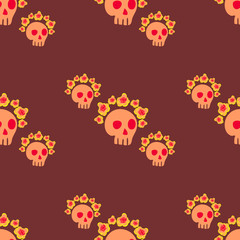 seamless pattern with  skull