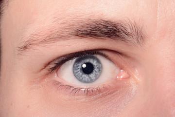Close Up Of A Man Eyes