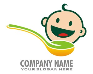 baby food logo image vector