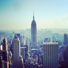 Top of the rock Manhattan view from Rockefeller center