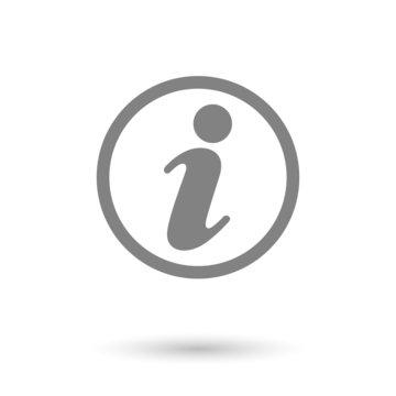 flat information icon background