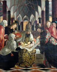 Circumcision of Jesus, main altar in Parish church in St. Wolfgang on Wolfgangsee in Austria
