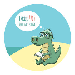 Crocodile With a Book - Error 404