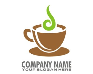 coffee beverages logo image vector