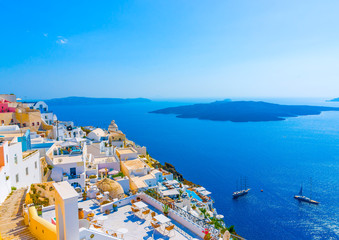 in Fira the capital of Santorini island in Greece
