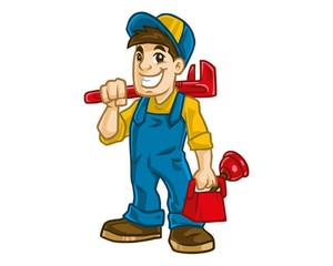 smiling mechanic boy character image vector