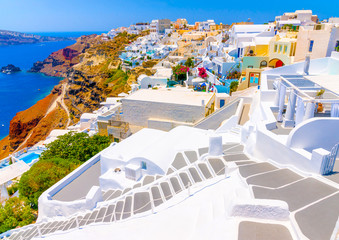 in Oia the most beautiful village of Santorini island in Greece