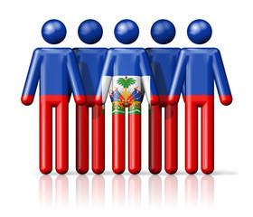 Flag of Haiti on stick figure