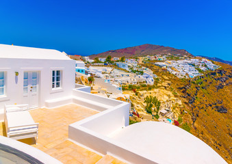 in Oia the most beautiful village of Santorini island in Greece