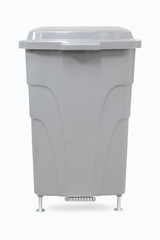 Plastic bin on white background, Recycling bins ,trashcan