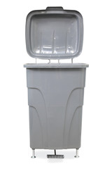 Plastic bin on white background, Recycling bins ,trashcan
