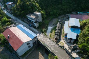 Bird eye view from Cable car/ ropeway to tianmen mountain