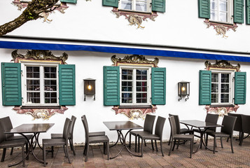 Street cafeteria in Oberammergau, Germany