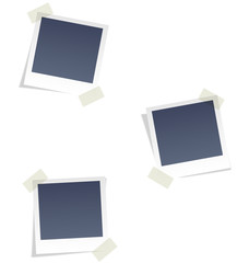 Photo frames for infographic isolated on white background