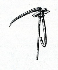 Small rake and scythe for one hand