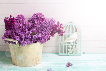 Background with  lilac flowers