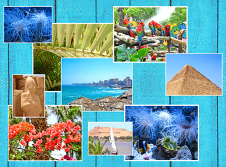 Collage of picturesque travel images.