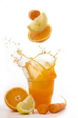 succo di arancia limone e carota splash