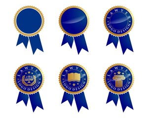 Blue Ribbons Logo Template