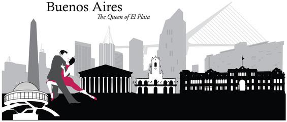 Buenos Aires Cityscape Skyline