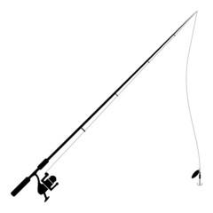 Fishing Rod Isolated on white