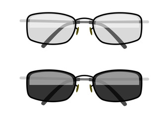 Sun-protection glasses. Eps10 vector illustration. Isolated on