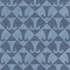 Abstract paneling pattern - seamless pattern - hipster symbol