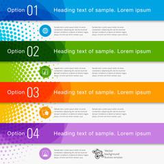 Obraz Infographics Web Banner & Label Design - fototapety do salonu