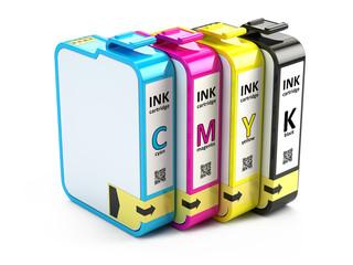 Inkjet CMYK printer cartridges