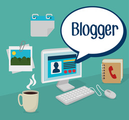 Blog design, vector illustration.
