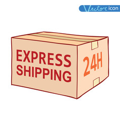 shipping box. Vector illustration