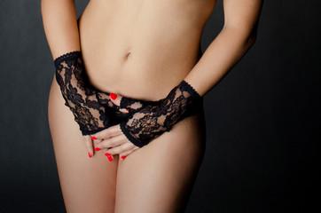 Sensual detail of a girl body