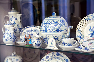 Famous trademark Meissen porcelain