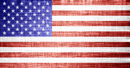 Stylized flag of the USA. Old Glory, American flag